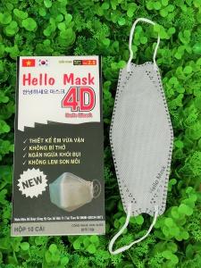 Khẩu Trang 4D Hello Mask Màu Xám